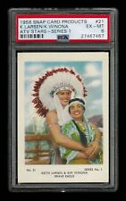 PSA 6 BRAVE EAGLE Cheyenne Chief & Sioux Indian Maiden TV 1958 Card BEAUTIFUL