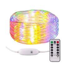 Moreplus Fairly Lights USB Plug-in Rope Light 33ft, 100 LED 8 Modes Waterproo...