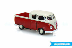 1962 Volkswagen Classic T1 Double Cabin Pick Up 1:36 scale Diecast Red model VW