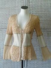 Ann Ferriday Anthropologie Boho Romantic Steampunk Cardi Corset Jacket Top~S/M/L