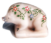 Boyd's Art Glass Suee the Pig Rosie Pink Hand painted And Signed