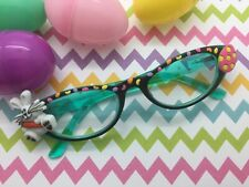 Easter Reading Glasses 2.5, Bunny, Egg, Handpainted Jelly Beans, Optical Quality