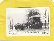 FIRST  TRAM   in  RUSKIN ROAD    CARSHALTON 1906   ( r30 )