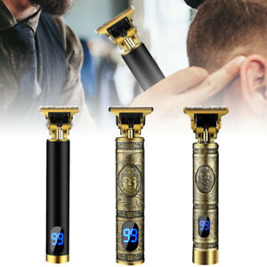 Electric LCD Retro Hair Clippers Professional Mens Grooming Trimmer Beard Shaver