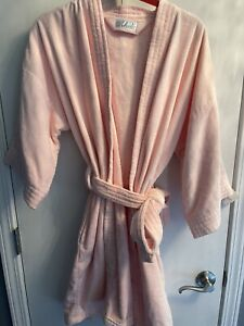 Cabernet sleepwear pink long sleeve open robe womens sz Large 100% cotton. NWT