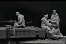 1:35 Ejército Británico del Rin Chieftain Tank Crew 4 Figuras de Resina modelo kit