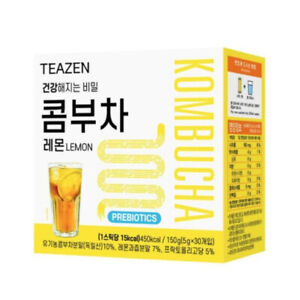 TEAZEN KOMBUCHA LEMON Powder Stick 5g X 30Pcs(1Box) Diet KOREA MADE BTS