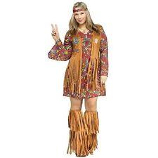 Buyseasons Fun World Womens Peace and Love Hippie Halloween Costume - Plus Size