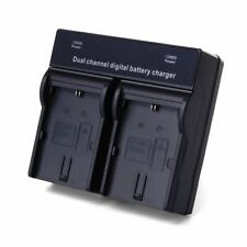 Dual Channel Digital Battery Charger for Canon Lp-E6 Battery Eos 5D2 5D3 60D 6D