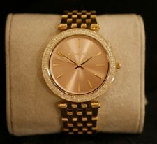 NEW Michael Kors Women's PINK face Gold-Tone Stainless Steel  Watch MK3507