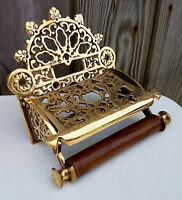 Victorian Toilet Roll Holder Unusual Novelty Vintage Retro Brass