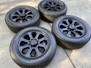 "20"" Dodge Ram Night Edition OEM Factory Black Wheels Tires 2500 3500 2019 2020"