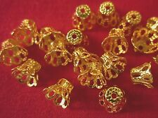 50 Gold Coloured 6x8mm Filigree Bead Caps #bc956 Combine Post-See Listing