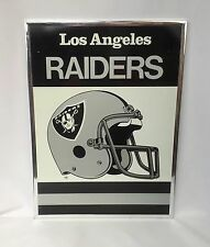 Vintage LOS ANGELES RAIDERS Oakland 19 X 14 Helmet Logo Framed METAL Picture