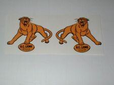 CFL BC-LIONS MINI SIZE FOOTBALL HELMET DECALS