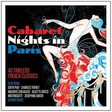 Cabaret Nights a Parigi feat. Catherine Sauvage, Edith Piaf, tra l'altro 2 CD NUOVO