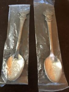 Vintage lot of 2 Rolex Bucherer Of Switzerland Collector Spoons With Lion