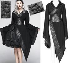 Veste robe kimono asymétrique gothique punk stylé cyber geisha corset PunkRave