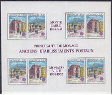 Monaco 1990 Europa - Post Office Buildings MS UM Yvert B49 Cat 30.00 Euros