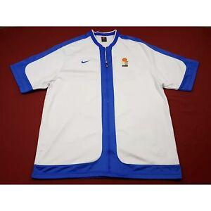 Nike Game Used/Worn White Greece National Basketball Team Warmup Jacket 3XLT