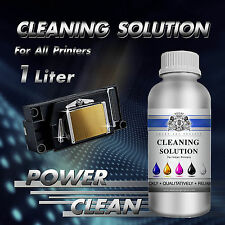 1000ml Print Head Cleaner Cleaning Fluid for Epson Canon Brother Inkjet Printers