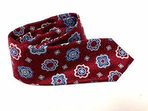 """Nice! Robert Talbott Monterey Imported Mod Floral Silk Tie Red Necktie 60"""""""