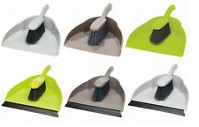 More details for soft dustpan & brush broom 2 piece set for sweeping household floor cleaning