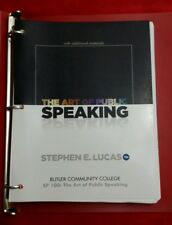 SP100 THE ART OF PUBLIC SPEAKING 11th Ed BUTLER COMMUNITY COLLEGE TEXTBOOK Lucas