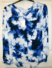 NEW QUALITY COLEBROOK BY WINDSMOOR BEAUTIFUL BLUE MIX TOP SIZE 16 # 738*