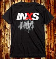 Michael Hutchence INXS Team Band The Farriss Brothers Dark Gray U&V Neck T-Shirt