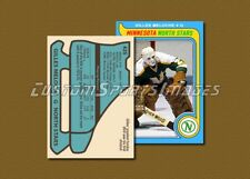 Gilles Meloche - Minnesota North Stars - Custom Hockey Card  - 1978-79