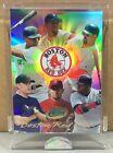 2004 ETOPPS IN HAND DAVID ORTIZ PEDRO MARTINEZ MANNY BOSTON RED SOX TEAM CARD