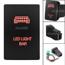 Car Red LED Push Switch LED Light Bar for Toyota Highlander Sequoia RAV4 Tundra