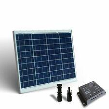 Kit Solare Base 50W 12V Pannello Fotovoltaico Regolatore 5A PWM
