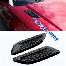 Gloss Black Dummy Hood Vent Slat air wing trim For range rover EVOQUE 2012-2017