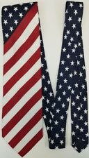 USA Flag Tie - Patriotic Novelty Necktie with Stars and Stripes