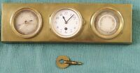 Beautiful Brass Desktop/table Thermometer-Clock-and Barometer, Ch. Hour, France