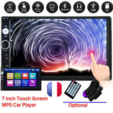 "Universel Double 2 Din Bluetooth 7"" HD Autoradio Écran tactile MP5 Joueur FM TF"