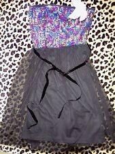 JUNIORS SIZE MEDIUM NEW NWT SELENA GOMEZ BLACK DRESS RAINBOW SEQUINS DREAM OUT L