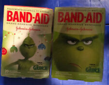 Dr. Seuss The Grinch Band Aids Set of 2 Boxes 40 Band-Aids Christmas Collectable