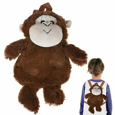 Kids Animal Rucksack Backpack Plush Cute Zoo Toy Lunch Bags for Children Toddler Lion