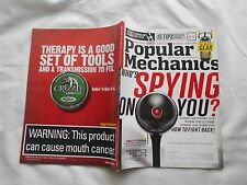 POPULAR MECHANICS Magazine-JANUARY,2013-WHO'S SPYING ON YOU ? HOW TO FIGHT BACK!