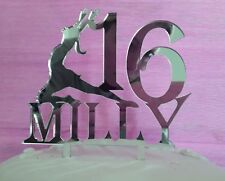 Acrylic Ballet dancer girl any Name/age dance birthday cake topper decorations