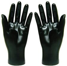 Mn-HandsM Pair Of Black Left & Right Male Mannequin Hand Display (Black Only)