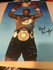 Lloyd Honeyghan Signed Photo.Undisputed World Champ Boxing Memorabilia Autograph