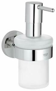 GROHE 40448001 Essentials Soap Dispenser with Silver Holder