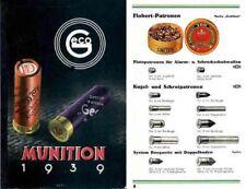 GECO Munitions 1939 Catalog