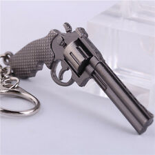 Revolver Pistol ​Weapon Gun Model Metal Keyring Keychain Key Ring Chain CF Mini