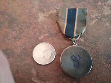 Sterling 1940  Geometry Award Charm Medal ribbon Gwendolyn Dumbell Woodbury