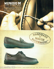 PUBLICITE ADVERTISING 056  2003   Mephisto M  chaussures homme